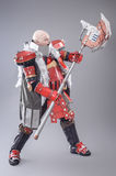 Warrior in the Armor with Axe Royalty Free Stock Image