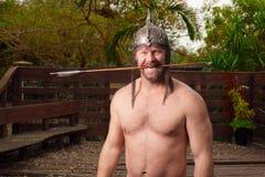 Warrior with an arrow Stock Photo