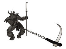 Warrior attack Stock Images