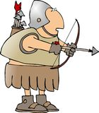 Warrior with a bow and arrow Royalty Free Stock Photo