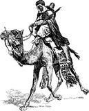 Warrior on a camel Stock Photo