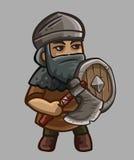 Warrior cartoon character Royalty Free Stock Photo