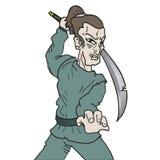 how to draw a cartoon samurai warrior