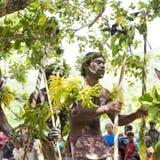 Warrior dancer Solomon Islands Royalty Free Stock Photo