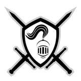 Warrior emblem Royalty Free Stock Images