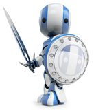 Warrior figurine. Graphic of figurine as a warrior Royalty Free Stock Photography