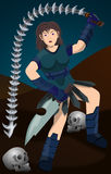 Warrior girl Royalty Free Stock Image