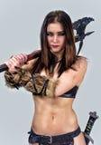 Warrior  girl ancient. Stock Image