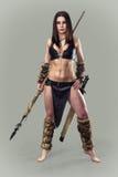 Warrior  girl ancient. Stock Photos