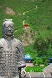 Warrior on the Great Wall Royalty Free Stock Images