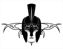 Roman Warrior Mascot Head. Warrior head, suitable for your mascot, symbol, icon. Team/Community Identity, emblem, insignia. etc. Available in EPS and Hi Res JPG Stock Image