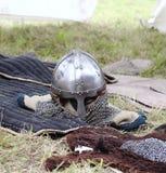 Warrior helmet Stock Image