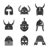 Warrior helmet set Royalty Free Stock Photos