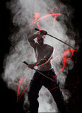 Warrior with his Katana royalty free stock images