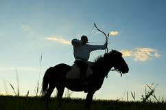 Warrior on a horse Stock Photo