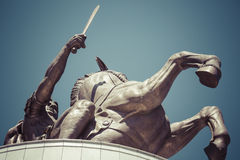 Warrior on a Horse statue Royalty Free Stock Photography
