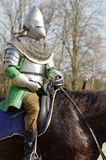 Warrior on horseback medieval armor Royalty Free Stock Photos