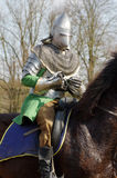 Warrior on horseback medieval armor 2 Royalty Free Stock Photography