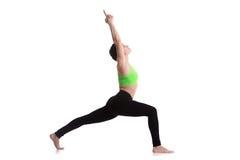 Warrior I yoga pose Stock Photography