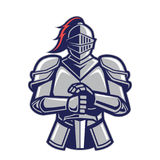 Warrior knight mascot Stock Image