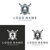 Warrior logo. Logo suitable for businesses and product names. Easy to edit, change size, color and text Stock Image