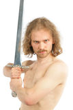 Warrior with long sword Royalty Free Stock Photos