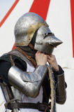 Warrior medieval armor Stock Photo