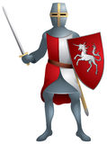 Warrior, Medieval knight in armor Royalty Free Stock Photo