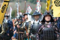 Warrior Parade in Kanra Town Stock Photo