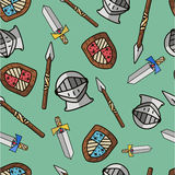 Warrior pattern for kids Royalty Free Stock Photos