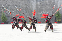 Dance performance, traditional warriors, Xian, China Stock Images