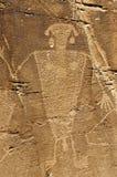 Warrior Petroglyph Stock Photos
