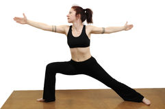 Warrior pose Royalty Free Stock Photo