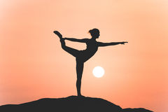 Warrior pose Royalty Free Stock Images