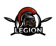 A warrior of Rome, a legionary logo. Royalty Free Stock Image