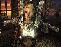 Warrior in the sanctuary Stock Image