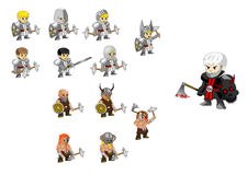 Warrior set vector Stock Image