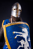 Warrior with shield. Image of knight holding his shield stock image