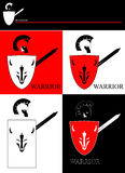 Warrior with the shield and sword. Royalty Free Stock Photography