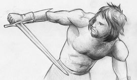 Warrior sketch Stock Photos