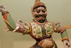 Warrior statue of ancient artifact. Warrior sculpture artwork  in the silk road Stock Image