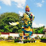 Warrior Statue. In Hainan Chinese Temple, Koh Samui, Thailand Stock Photography