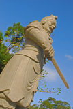 Warrior Statue Holding a Short Sword Stock Photography