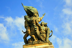 Warrior statue in Rome Stock Photography