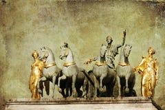 Warrior statue at the Tuileries in Paris Stock Photos
