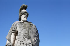 Warrior statue in Villa Olmo, Como, Italy Royalty Free Stock Photography