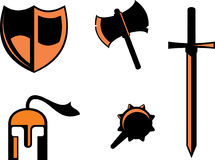 Warrior symbols Stock Images