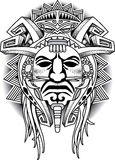 Warrior Tribal Mask Vector illustration Royalty Free Stock Photography
