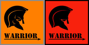 Warrior. Warrior head. Royalty Free Stock Images