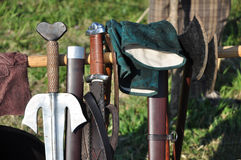 Warrior weapons Royalty Free Stock Photos
